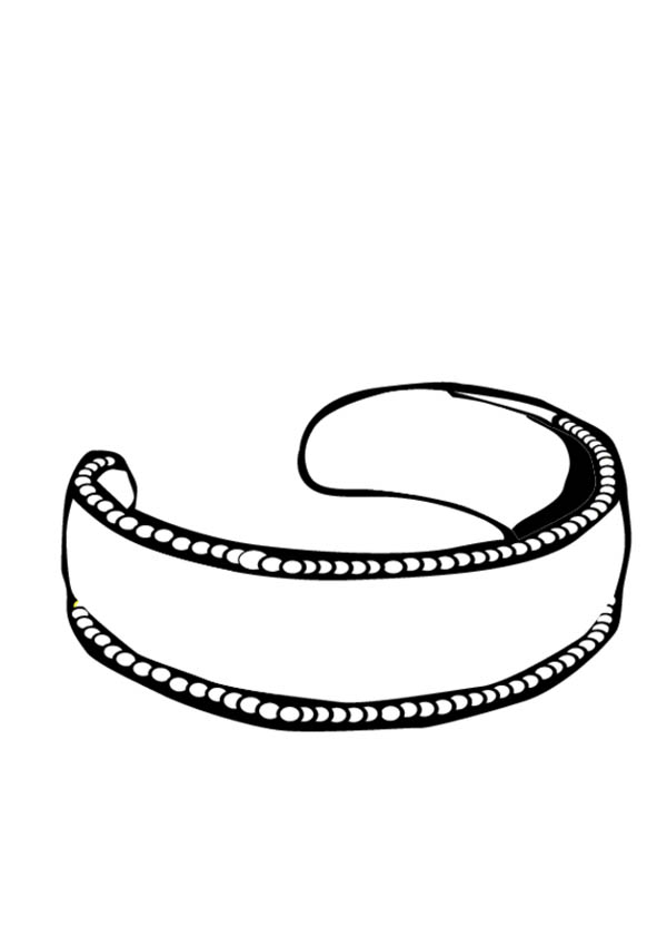 bracelet coloring pages | Gold Earring Jewelry Coloring Page | Coloring Sky