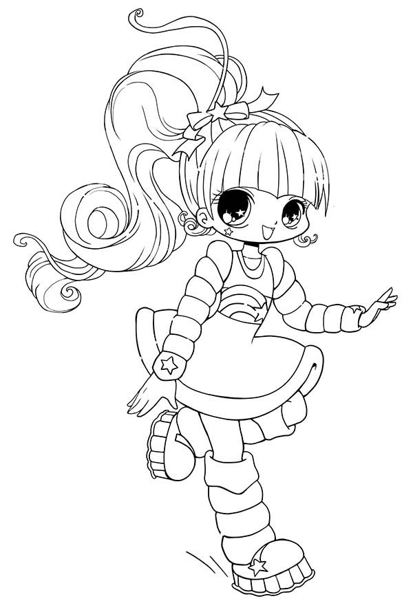 Long haired chibi anime character coloring page coloring sky for Anime character coloring pages