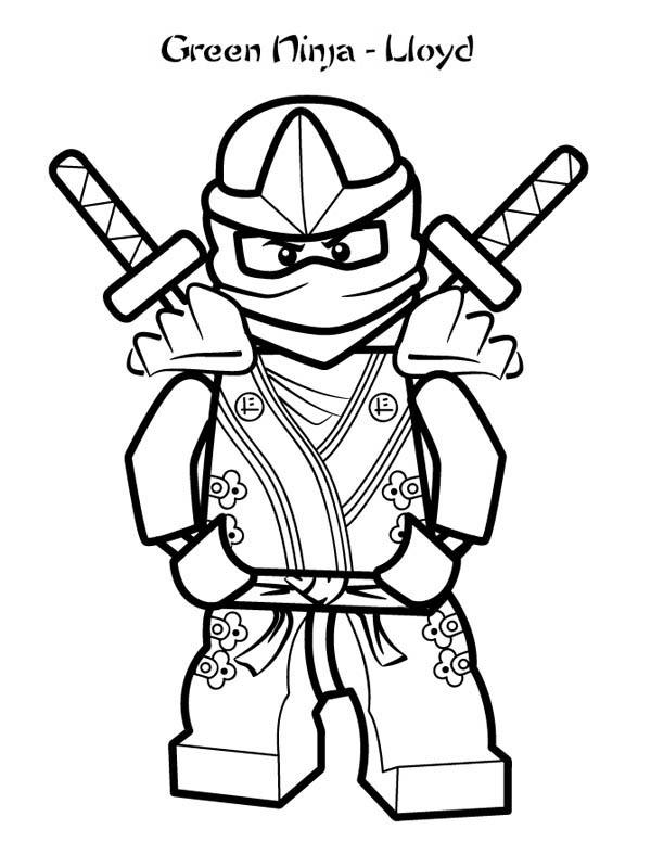 green ninjago lloyd coloring pages - photo#5