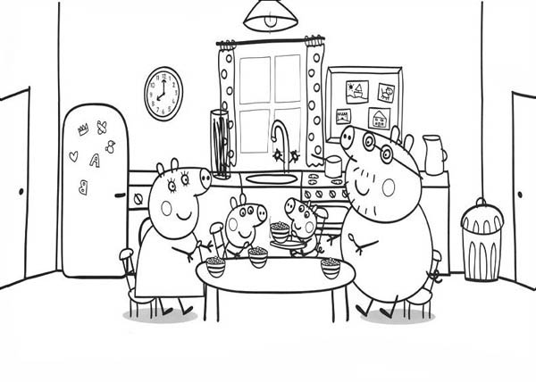peppa pig house coloring pages - peppa pig house coloring pages sketch coloring page
