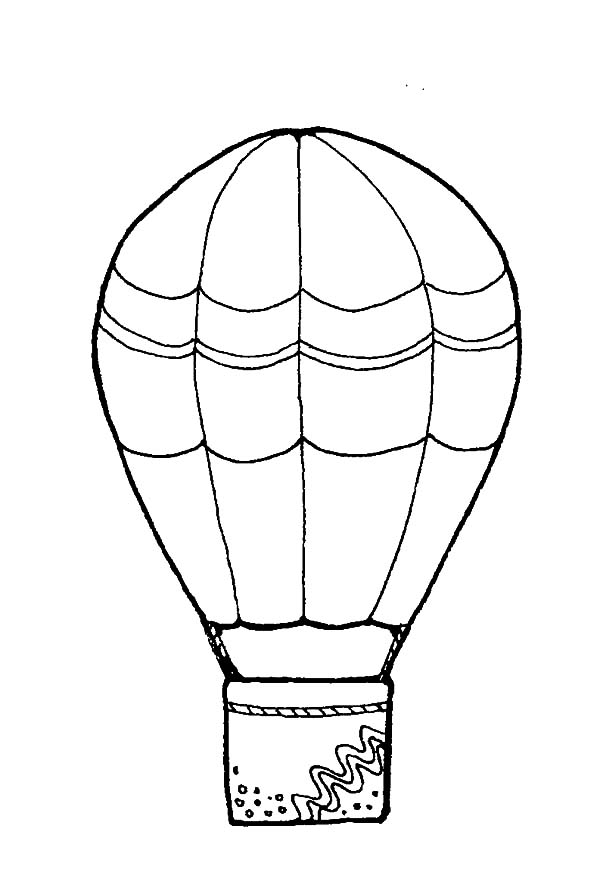 hot air balloon coloring pages - decorated hot air balloon coloring pages coloring sky