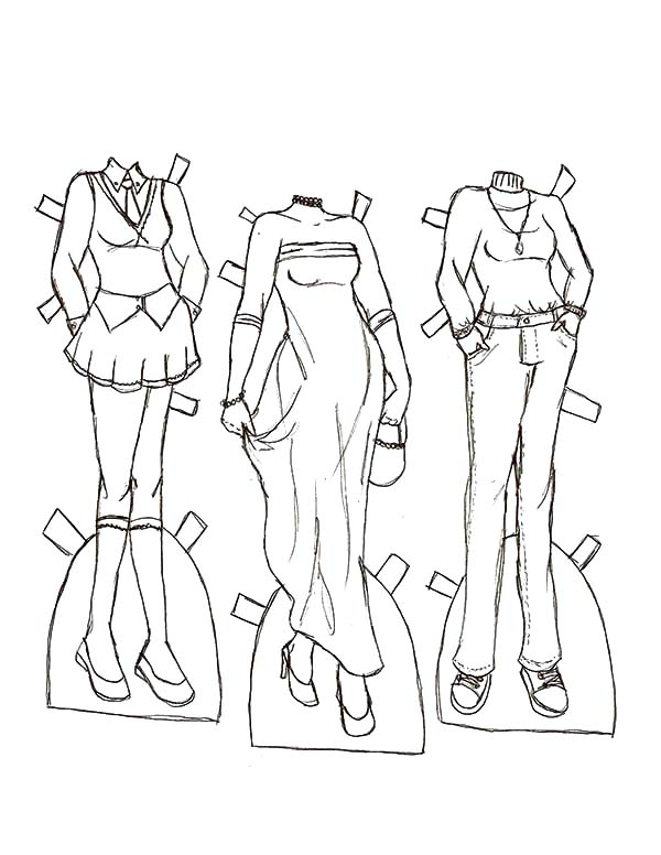 Barbie Coloring Pages Fashion Dress Coloring Pages Coloring