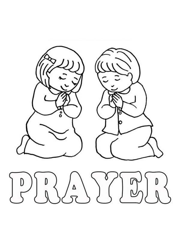 Child Praying To God Coloring Page