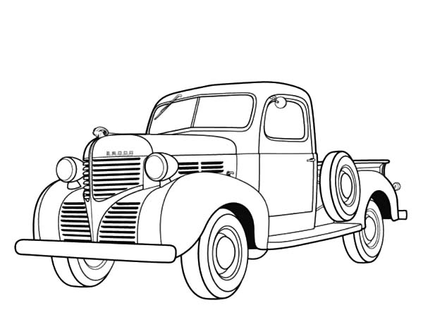 Dodge Ram Classic Car Coloring Pages: Dodge Ram Classic ...